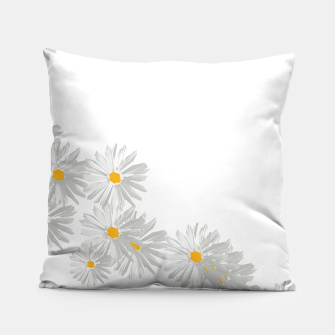 Thumbnail image of daisy flower sunflower minimal Pillow, Live Heroes