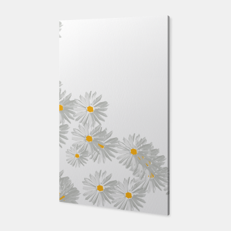 Thumbnail image of daisy flower sunflower minimal Canvas, Live Heroes