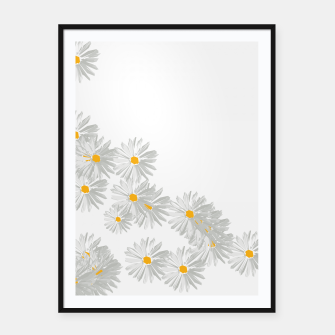 Thumbnail image of daisy flower sunflower minimal Framed poster, Live Heroes