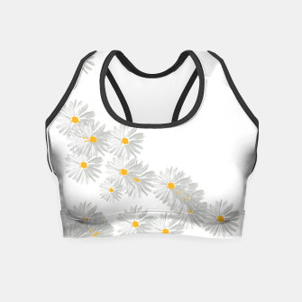 Thumbnail image of daisy flower sunflower minimal Crop Top, Live Heroes