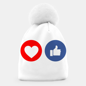 Thumbnail image of Social media share icons showing approval Beanie, Live Heroes