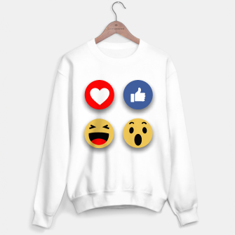Thumbnail image of Social media face reaction emojis flat icons Sweater regular, Live Heroes