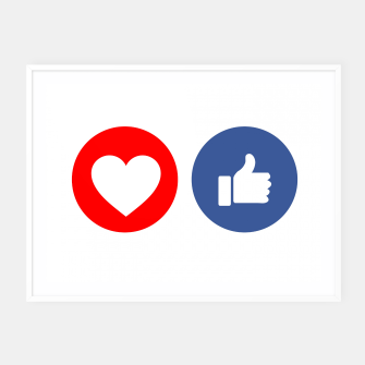 Thumbnail image of Social media share icons showing approval Framed poster, Live Heroes