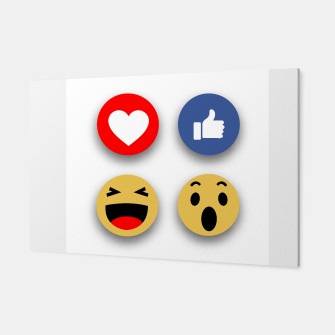 Thumbnail image of Social media face reaction emojis flat icons Canvas, Live Heroes