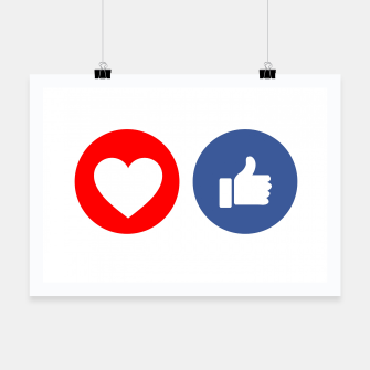 Thumbnail image of Social media share icons showing approval Poster, Live Heroes