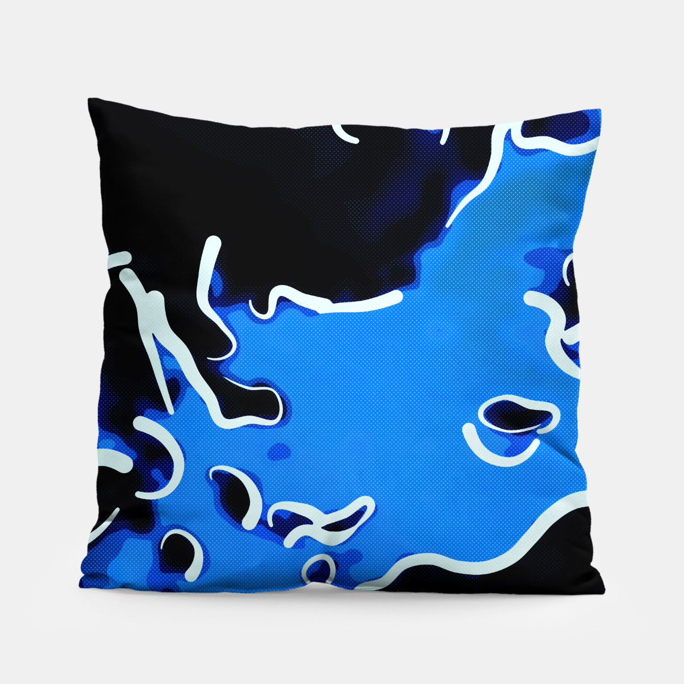 Image of spotted abstract line art 2 abseei Pillow - Live Heroes