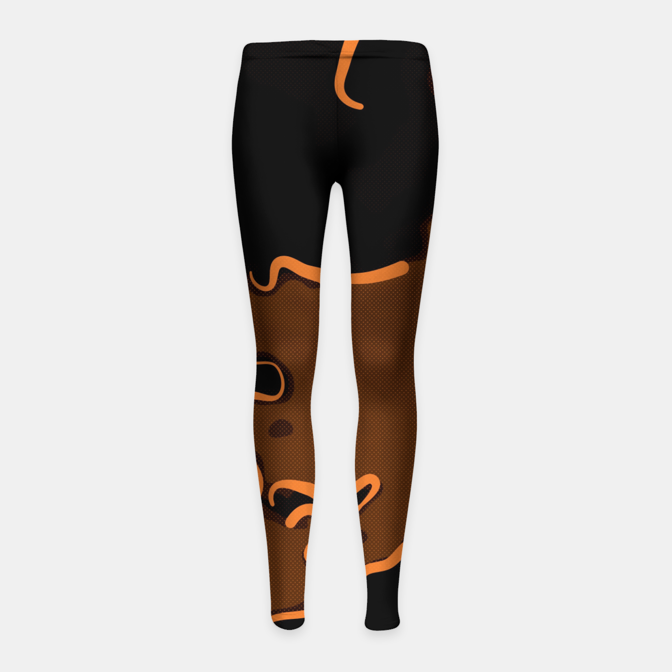 Image of spotted abstract line art 2 abswbi Girl's leggings - Live Heroes