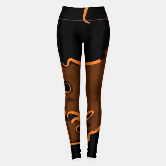 Thumbnail image of spotted abstract line art 2 abswbi Leggings, Live Heroes