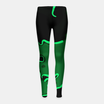 Thumbnail image of spotted abstract line art 2 absmagi Girl's leggings, Live Heroes