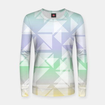 Imagen en miniatura de Colorful triangles composition Women sweater, Live Heroes