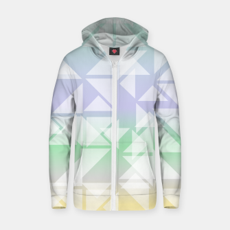 Imagen en miniatura de Colorful triangles composition Zip up hoodie, Live Heroes