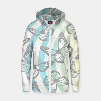 Butterflies and swirls  Zip up hoodie thumbnail image