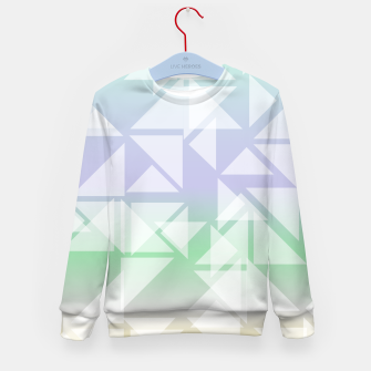 Imagen en miniatura de Colorful triangles composition Kid's sweater, Live Heroes