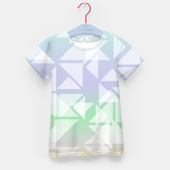 Imagen en miniatura de Colorful triangles composition Kid's t-shirt, Live Heroes