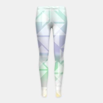 Imagen en miniatura de Colorful triangles composition Girl's leggings, Live Heroes
