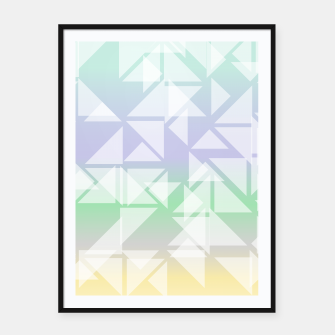 Imagen en miniatura de Colorful triangles composition Framed poster, Live Heroes