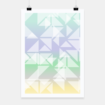Imagen en miniatura de Colorful triangles composition Poster, Live Heroes