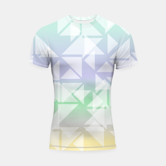 Imagen en miniatura de Colorful triangles composition Shortsleeve rashguard, Live Heroes