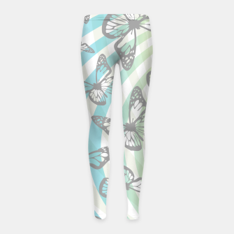 Thumbnail image of Butterflies and swirls  Girl's leggings, Live Heroes