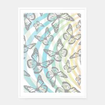 Thumbnail image of Butterflies and swirls  Framed poster, Live Heroes