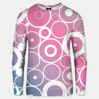 Thumbnail image of Minimalistic pink blue gradient circle composition Unisex sweater, Live Heroes