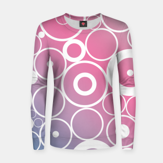 Thumbnail image of Minimalistic pink blue gradient circle composition Women sweater, Live Heroes
