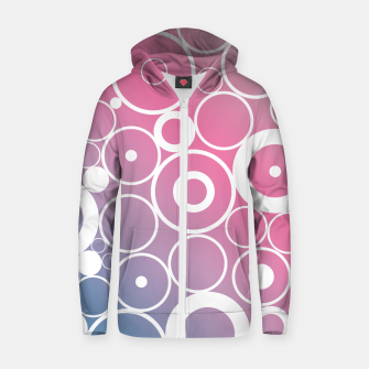 Thumbnail image of Minimalistic pink blue gradient circle composition Zip up hoodie, Live Heroes
