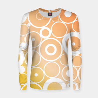 Thumbnail image of Minimalistic orange yellow gradient circle composition Women sweater, Live Heroes