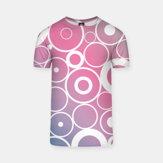 Thumbnail image of Minimalistic pink blue gradient circle composition T-shirt, Live Heroes