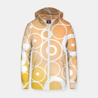 Thumbnail image of Minimalistic orange yellow gradient circle composition Zip up hoodie, Live Heroes