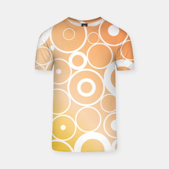 Thumbnail image of Minimalistic orange yellow gradient circle composition T-shirt, Live Heroes