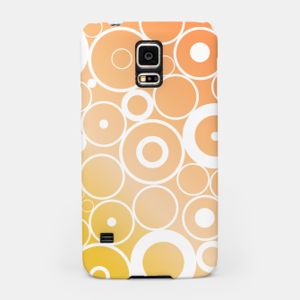 Thumbnail image of Minimalistic orange yellow gradient circle composition Samsung Case, Live Heroes