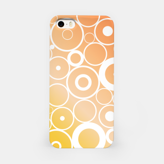 Thumbnail image of Minimalistic orange yellow gradient circle composition iPhone Case, Live Heroes