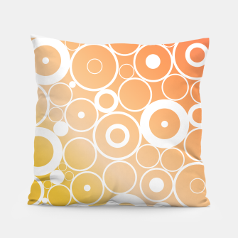Thumbnail image of Minimalistic orange yellow gradient circle composition Pillow, Live Heroes