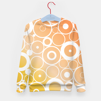 Thumbnail image of Minimalistic orange yellow gradient circle composition Kid's sweater, Live Heroes