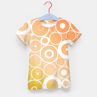 Thumbnail image of Minimalistic orange yellow gradient circle composition Kid's t-shirt, Live Heroes