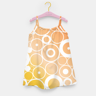 Thumbnail image of Minimalistic orange yellow gradient circle composition Girl's dress, Live Heroes