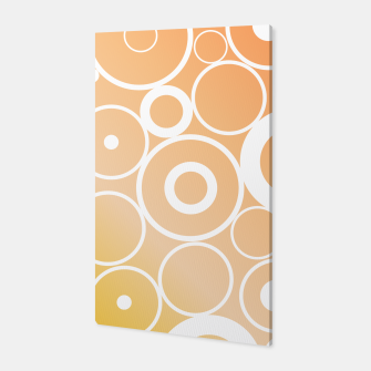 Thumbnail image of Minimalistic orange yellow gradient circle composition Canvas, Live Heroes