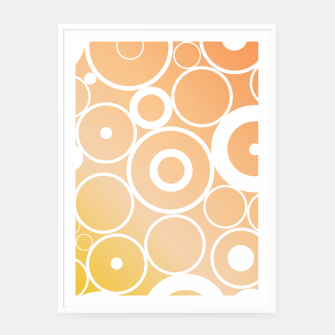 Thumbnail image of Minimalistic orange yellow gradient circle composition Framed poster, Live Heroes