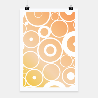 Thumbnail image of Minimalistic orange yellow gradient circle composition Poster, Live Heroes