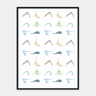 Miniatur Yoga poses silhouette Framed poster, Live Heroes