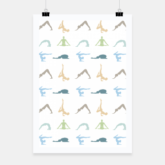 Miniatur Yoga poses silhouette Poster, Live Heroes