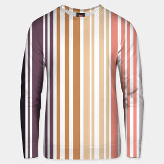 Thumbnail image of Earth colored pinstripes in soft murky colors Unisex sweater, Live Heroes