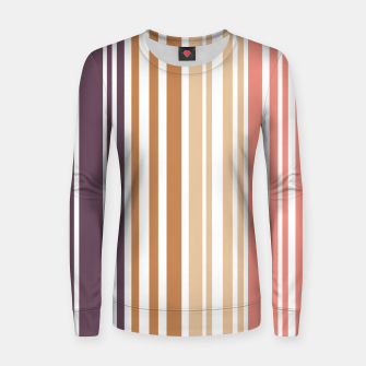 Thumbnail image of Earth colored pinstripes in soft murky colors Women sweater, Live Heroes