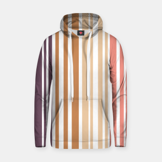 Miniature de image de Earth colored pinstripes in soft murky colors Hoodie, Live Heroes