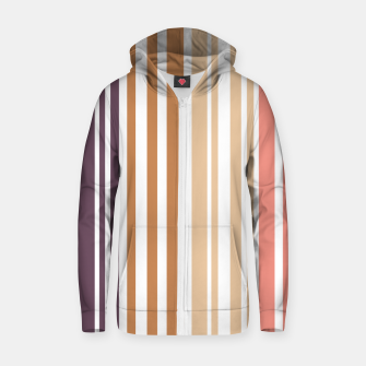 Miniature de image de Earth colored pinstripes in soft murky colors Zip up hoodie, Live Heroes