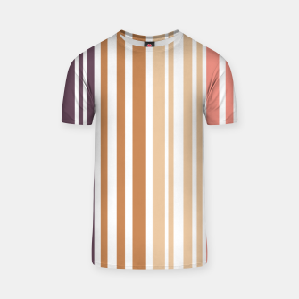 Thumbnail image of Earth colored pinstripes in soft murky colors T-shirt, Live Heroes