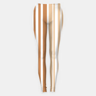 Thumbnail image of Earth colored pinstripes in soft murky colors Leggings, Live Heroes