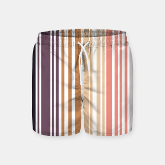 Thumbnail image of Earth colored pinstripes in soft murky colors Swim Shorts, Live Heroes