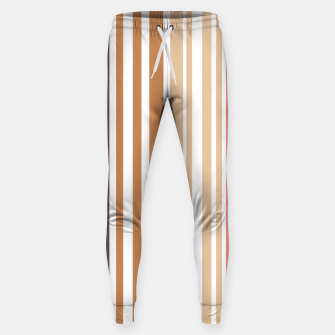 Thumbnail image of Earth colored pinstripes in soft murky colors Sweatpants, Live Heroes